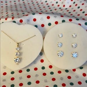 Diamondique necklace and earrings